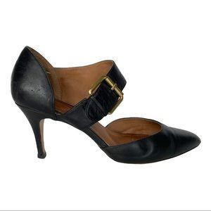 Corso Como Black Leather Strap Heels 11
